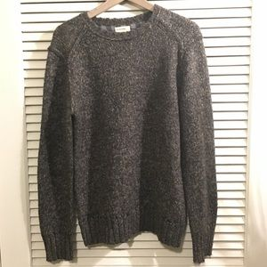 Life After Denim Navy Grey Thick Knit Crew Sweater